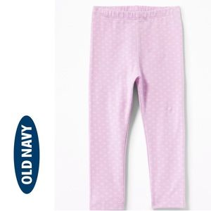 NWT Old Navy Pink Full Length Leggings 18-24mo